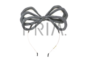COTTON KNIT TRIPLE WIRE BOW HEADBAND