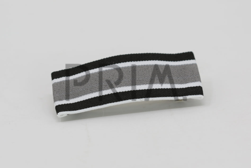 STRIPED FLAT FRENCH CLIP