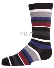 Load image into Gallery viewer, MEMOI T-SHIRT STRIPE CREW SOCK