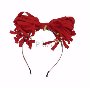 HEIRLOOMS STRINGY BOW PEARLS HEADBAND