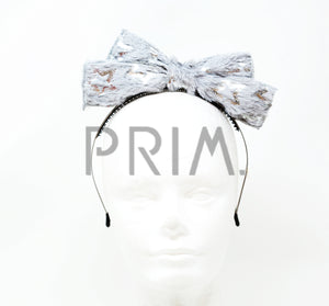 FUR BOW WITH FOIL STARS HEADBAND