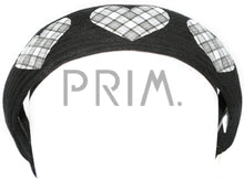 Load image into Gallery viewer, PLAID HEARTS HEADBAND