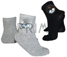 Load image into Gallery viewer, BLINQ SEQUINED STAR SMILEY SOCK