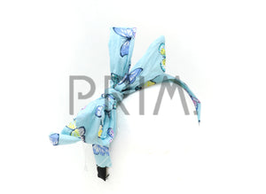 BUTTERFLY PRINT COVERED WITH TIE BOW HEADBAND