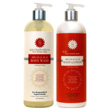 Load image into Gallery viewer, ARGAN & AÇAÍ BODY WASH AND ARGAN & AÇAÍ BODY LOTION DUO 16 OUNCE
