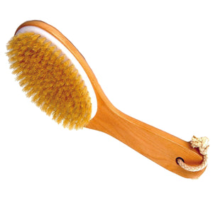 100% NATURAL BOAR BRISTLE BODY BRUSH (WET OR DRY) WITH WOODEN HANDLE