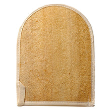 Load image into Gallery viewer, NATURAL LOOFAH EXFOLIATING BATH MITT W/TERRY BACK