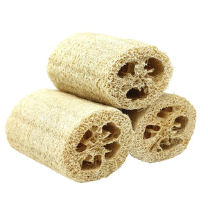 "4"" EXFOLIATING LOOFAH (3 PACK) NATURAL RENEWABLE RESOURCE"