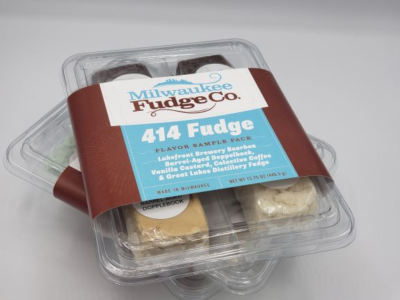 414 Fudge Flavor Sample Pack - 4, approx. 4-ounce fudges