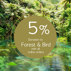Giving back 5 percent donation to Forest and Bird New Zealand by artist Hansby Design