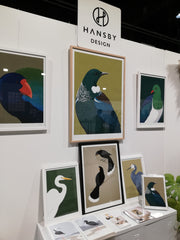 New framed art prints by Hansby Design at the New Zealand Gift Fair