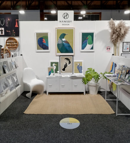 Hansby Design Trade Show stand at the Autumn Gift Fair, Auckland New Zealand