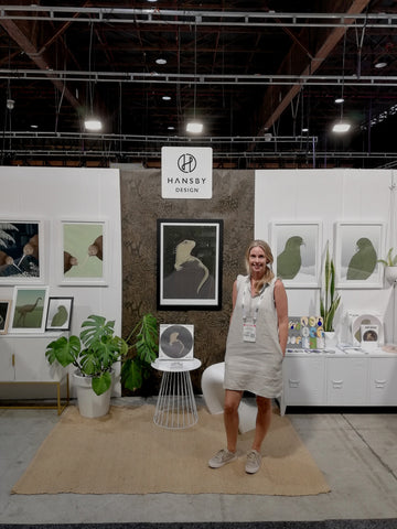 The Hansby Design trade show stand at the Auckland Gift Fair, New Zealand