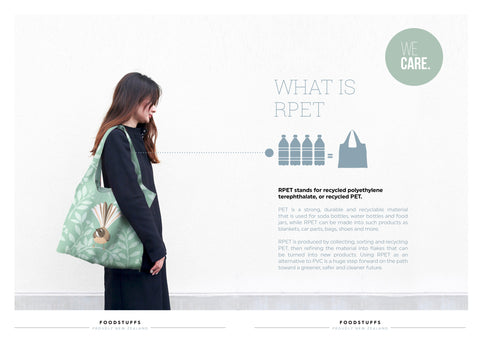 RPET reusable bags by Hansby Design, New Zealand, 4 recycled bottles per bag /></div> <div style=