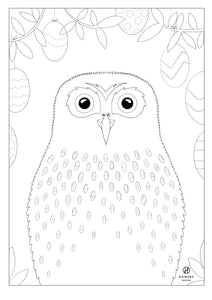 Ruru Colouring printable