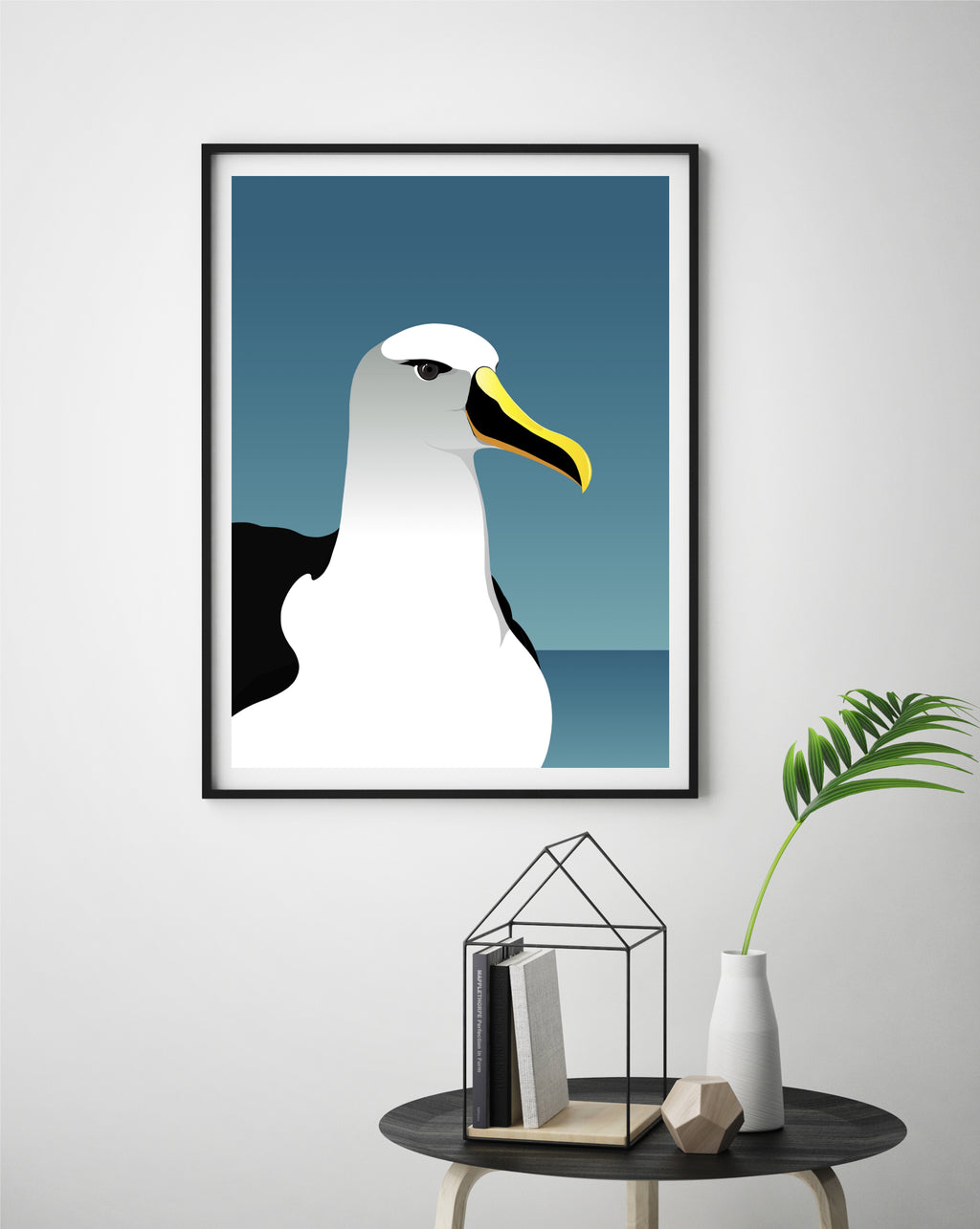 Albatross bird art print, framed print on wall