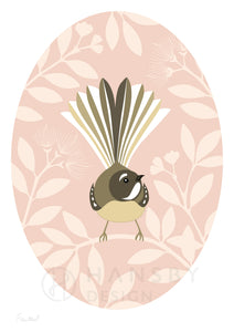 Fantail Blush Oval