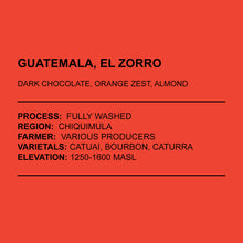 Load image into Gallery viewer, Guatemala, El Zorro Espresso