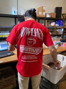 Powered by Positivity t-shirt-Red