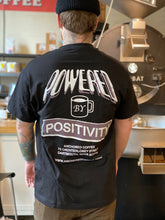 Load image into Gallery viewer, Powered by Positivity t-shirt-Black