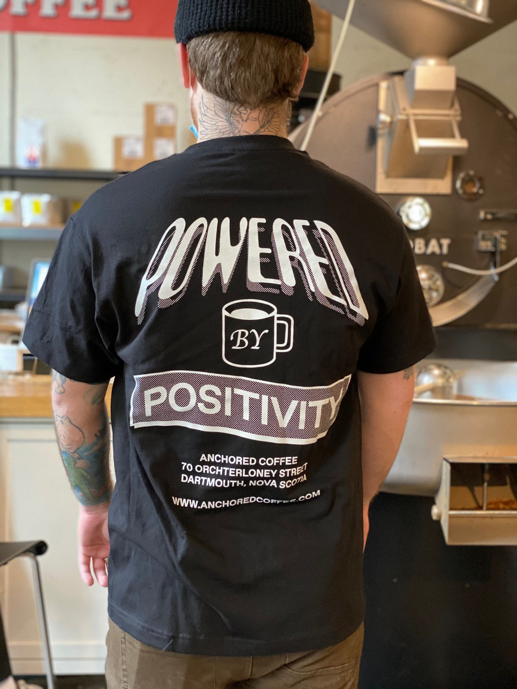 Powered by Positivity t-shirt-Black