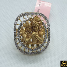 Load image into Gallery viewer, Radha Krishna Ji Diamond Cocktail Ring