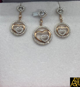 Hearty Diamond Pendant Set