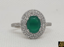 Load image into Gallery viewer, Emerald Diamond Ring