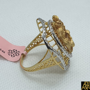 Radha Krishna Ji Diamond Cocktail Ring