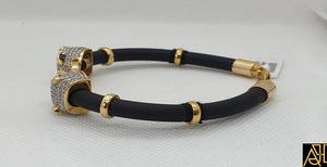 Unisex Black Eye Panther Leather Bracelet