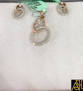 Delicate Diamond Pendant Set