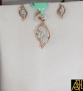 Fine Diamond Pendant Set