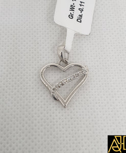 Noble Hearted Diamond Pendant
