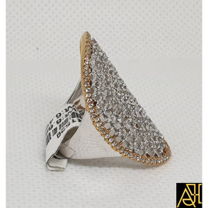 Elongated Diamond Cocktail Ring
