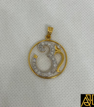 Load image into Gallery viewer, Om 3 Religious Diamond Pendant