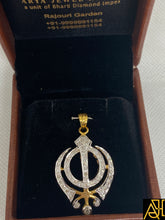 Load image into Gallery viewer, Khanda Religious Diamond Pendant