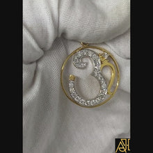 Load and play video in Gallery viewer, Om 3 Religious Diamond Pendant
