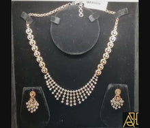 Load and play video in Gallery viewer, Intricate Diamond Necklace Set