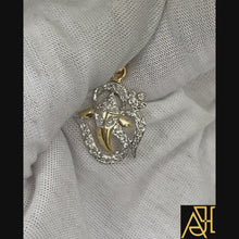 Load and play video in Gallery viewer, Ganesha Religious Diamond Pendant