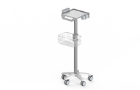 RS002 Ultrasound trolley , fixed height ,with probe holder
