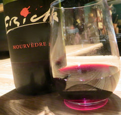 Glass of Mourvedre wine.