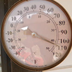 Thermometer reading 110F