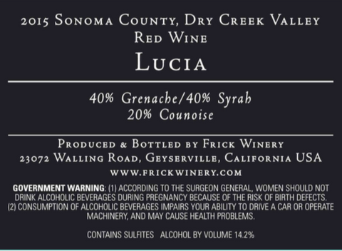 (Archive) LUCIA Red Blend 2015 Dry Creek Valley