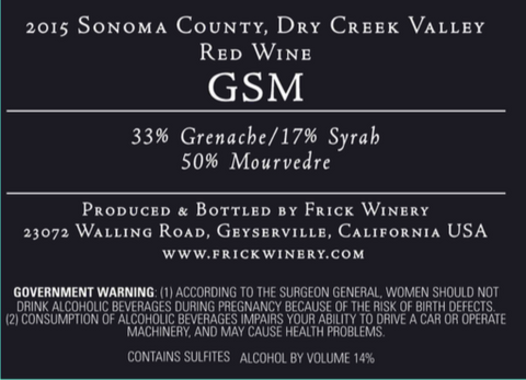 (Archive) G S M   Blend 2015 Dry Creek Valley