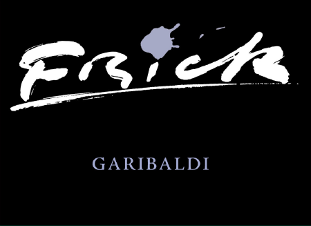Label for Garibaldi with large Frick logo