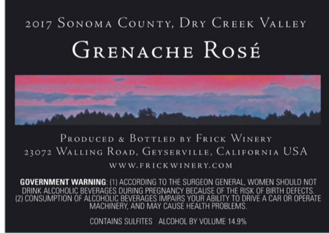 (Archive) GRENACHE ROSÉ 2017 Dry Creek Valley