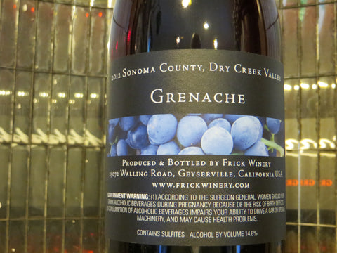 (Archive) GRENACHE 2012 Dry Creek Valley