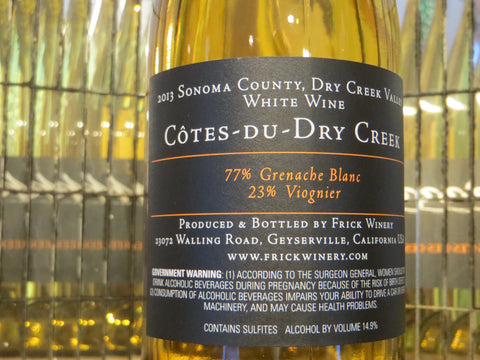 (Archive) COTES-DU-DRY CREEK WHITE Blend 2013 Dry Creek Valley