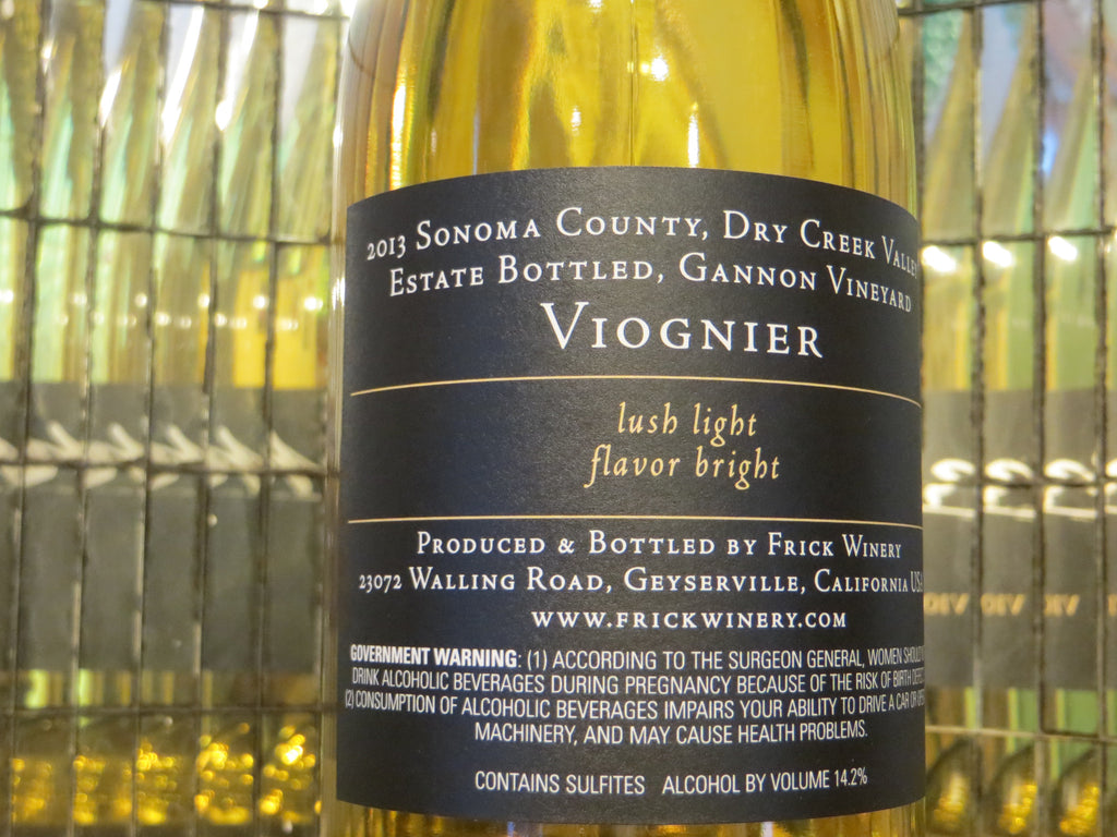(Archive) VIOGNIER 2013 Estate Gannon Vineyard, Dry Creek Valley