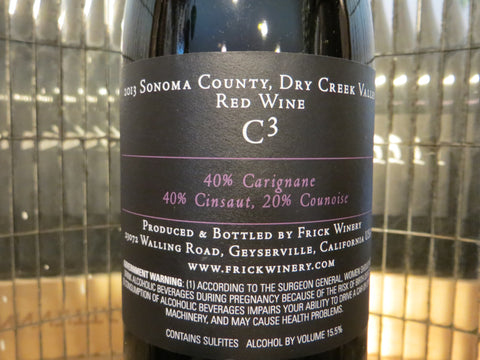 (Archive) C3 (C cubed) Red Blend 2013 Dry Creek Valley